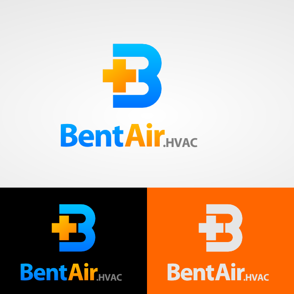 Logo Design by Caem Pathikawa - Entry No. 83 in the Logo Design Contest BentAir HVAC Logo Design.