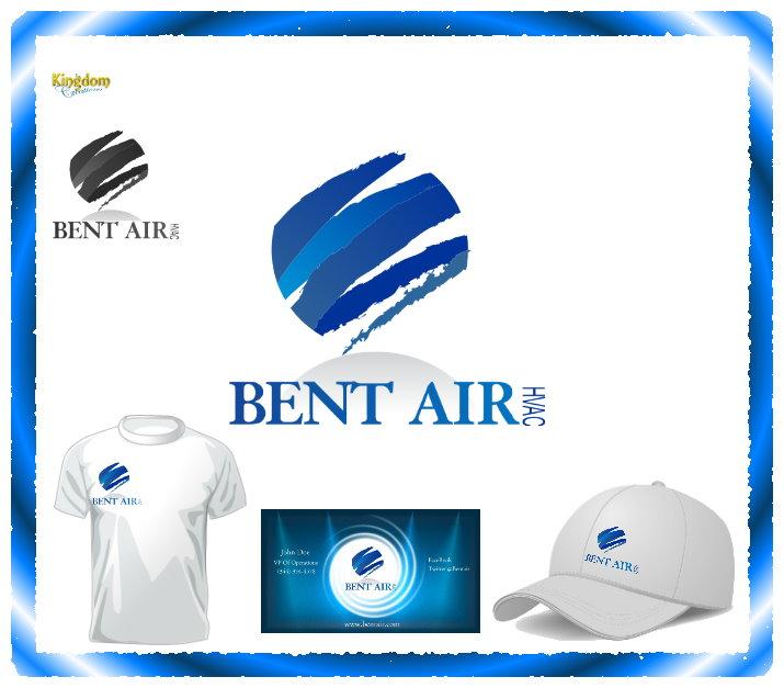 Logo Design by Clifton Gage - Entry No. 92 in the Logo Design Contest BentAir HVAC Logo Design.