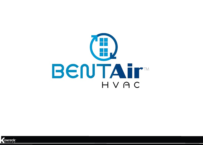 Logo Design by kowreck - Entry No. 93 in the Logo Design Contest BentAir HVAC Logo Design.