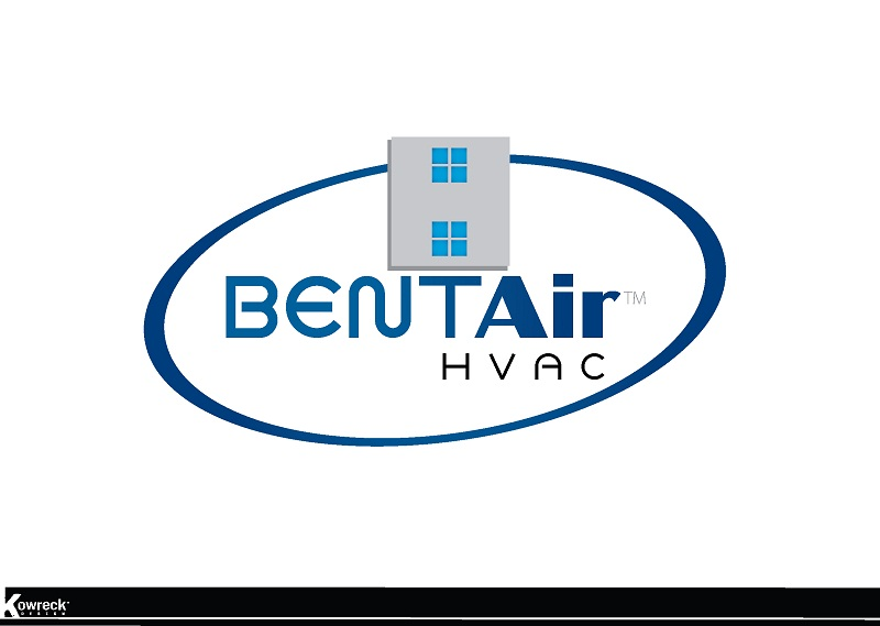 Logo Design by kowreck - Entry No. 95 in the Logo Design Contest BentAir HVAC Logo Design.
