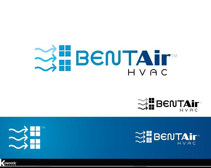 Logo Design by kowreck - Entry No. 96 in the Logo Design Contest BentAir HVAC Logo Design.