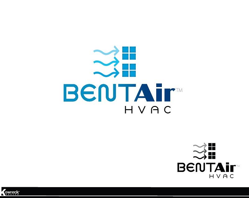 Logo Design by kowreck - Entry No. 97 in the Logo Design Contest BentAir HVAC Logo Design.