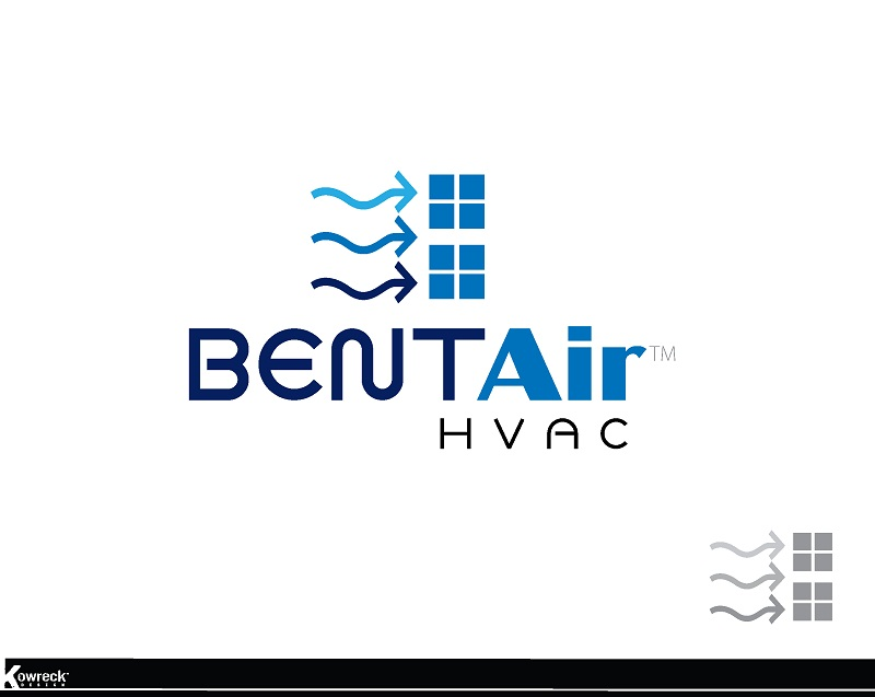 Logo Design by kowreck - Entry No. 98 in the Logo Design Contest BentAir HVAC Logo Design.