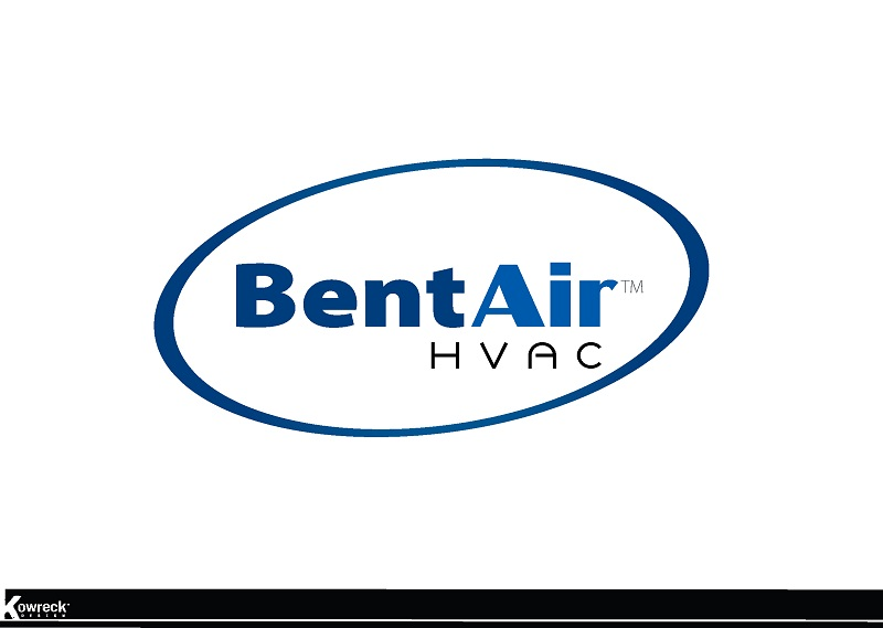 Logo Design by kowreck - Entry No. 110 in the Logo Design Contest BentAir HVAC Logo Design.