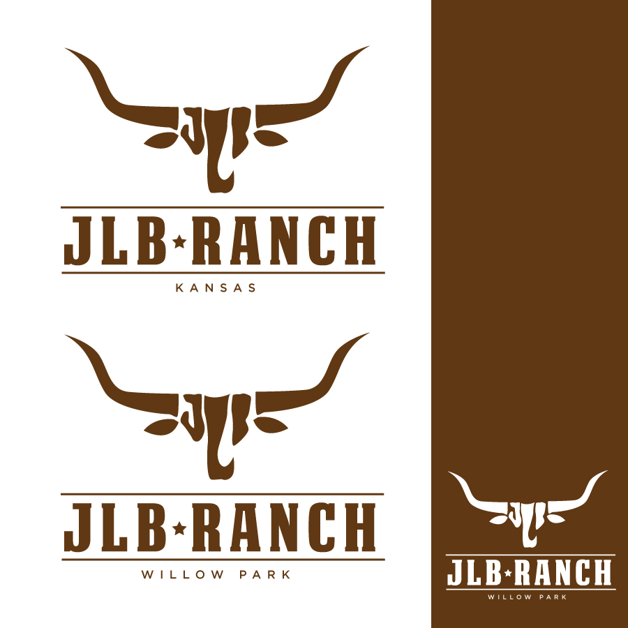 Logo Design by Edward Goodwin - Entry No. 91 in the Logo Design Contest Logo Design Needed for Exciting New Company JLB Ranch Kansas.
