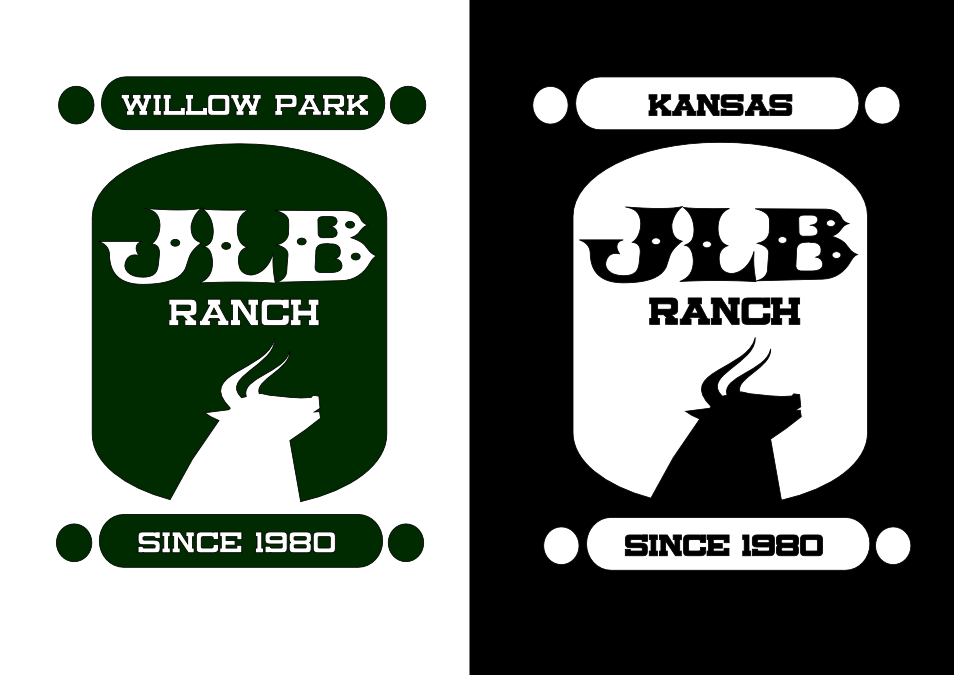 Logo Design by whoosef - Entry No. 92 in the Logo Design Contest Logo Design Needed for Exciting New Company JLB Ranch Kansas.