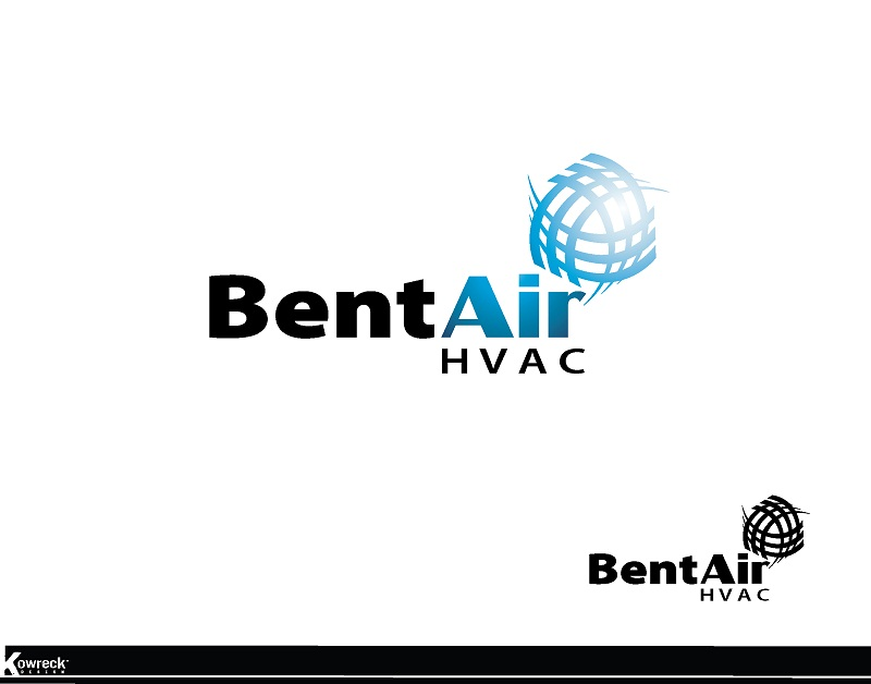 Logo Design by kowreck - Entry No. 118 in the Logo Design Contest BentAir HVAC Logo Design.