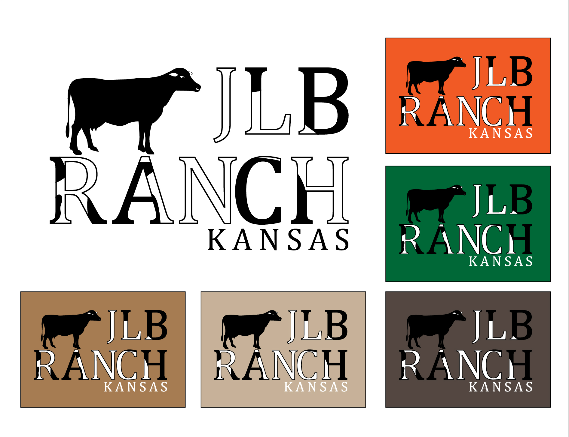 Logo Design by 3draw - Entry No. 97 in the Logo Design Contest Logo Design Needed for Exciting New Company JLB Ranch Kansas.