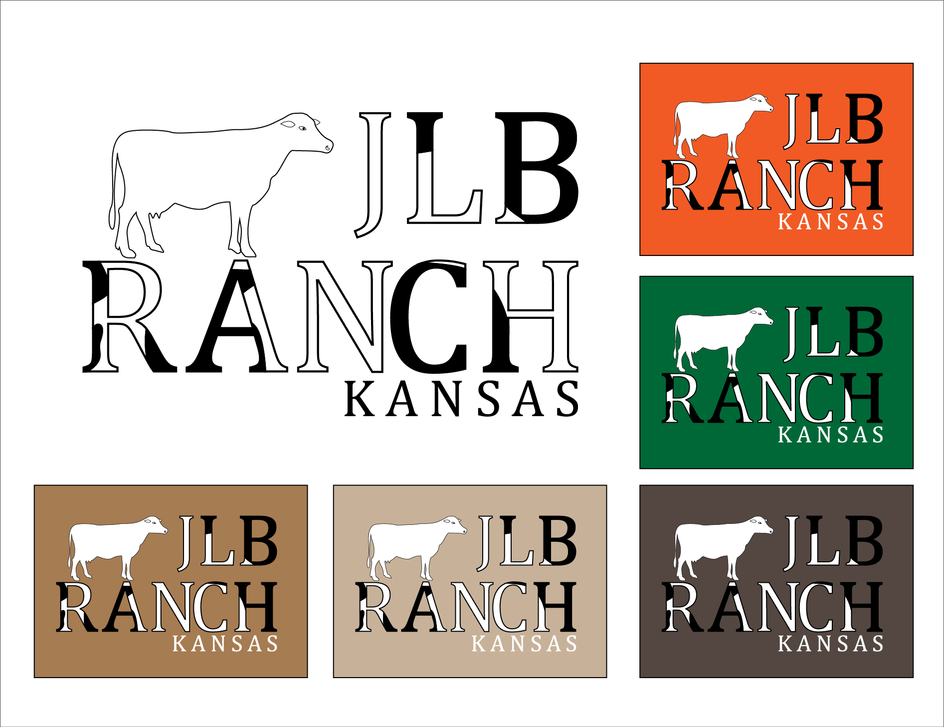 Logo Design by 3draw - Entry No. 98 in the Logo Design Contest Logo Design Needed for Exciting New Company JLB Ranch Kansas.