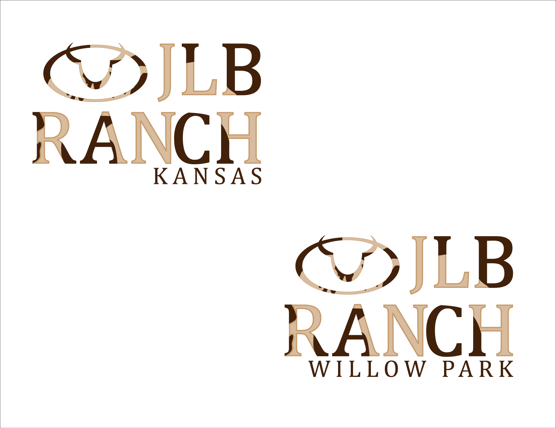 Logo Design by 3draw - Entry No. 99 in the Logo Design Contest Logo Design Needed for Exciting New Company JLB Ranch Kansas.