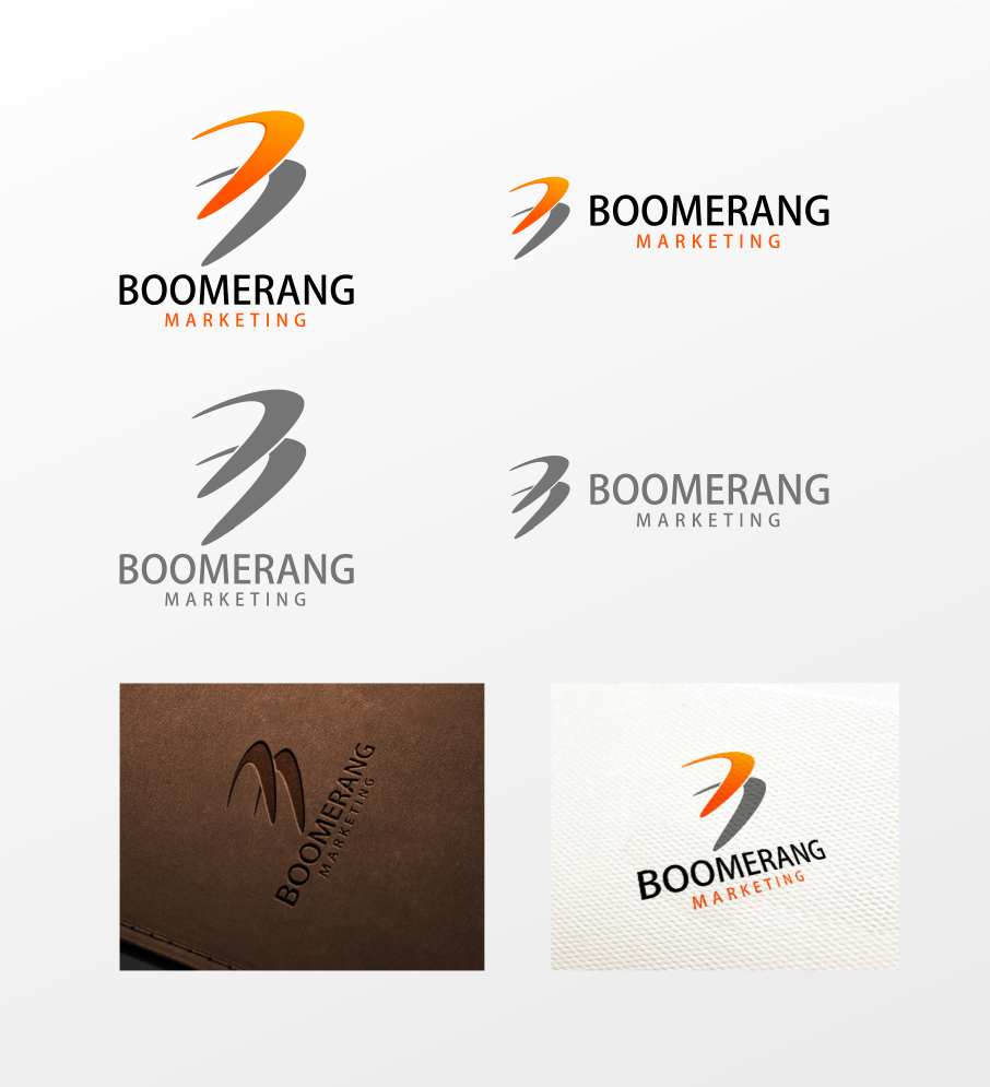 Logo Design by Jorge Sardon - Entry No. 101 in the Logo Design Contest Unique Logo Design Wanted for Boomerang Marketing.
