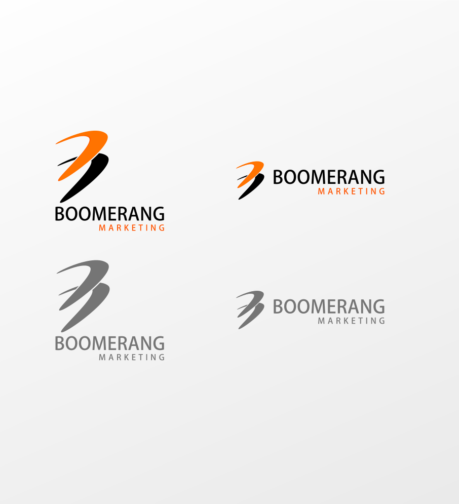 Logo Design by Jorge Sardon - Entry No. 102 in the Logo Design Contest Unique Logo Design Wanted for Boomerang Marketing.