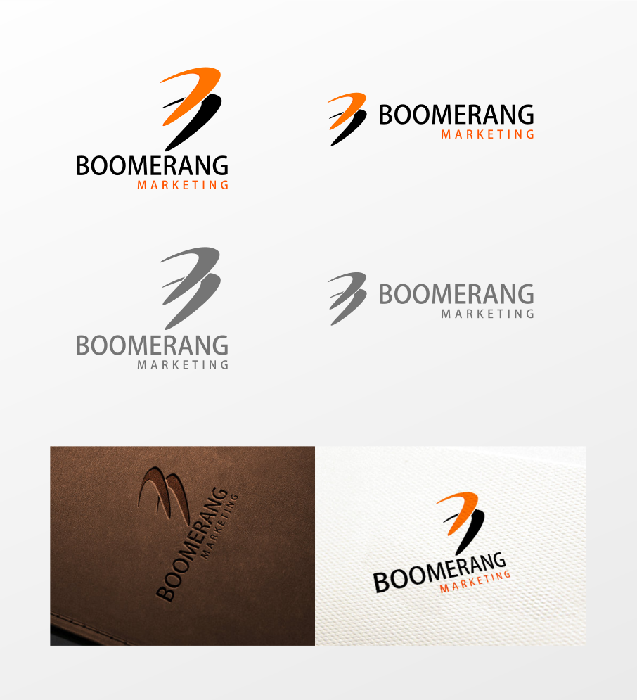 Logo Design by Jorge Sardon - Entry No. 103 in the Logo Design Contest Unique Logo Design Wanted for Boomerang Marketing.