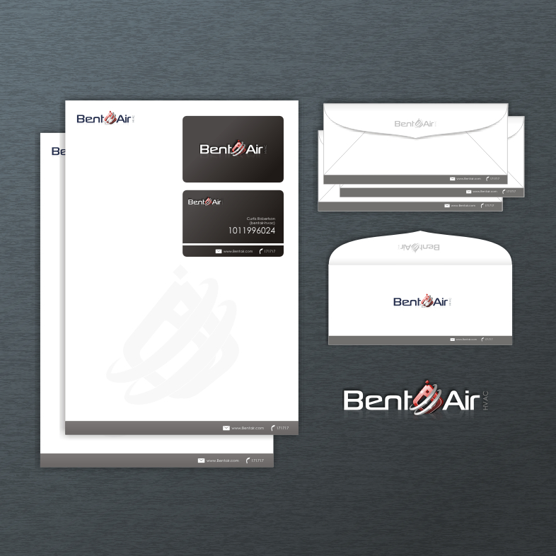 Logo Design by Think - Entry No. 155 in the Logo Design Contest BentAir HVAC Logo Design.
