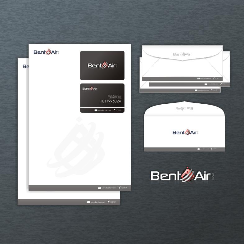 Logo Design by Think - Entry No. 155 in the Logo Design Contest BentAir HVAC Logo Design.