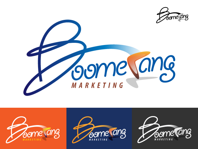 Logo Design by Adames Alwi - Entry No. 111 in the Logo Design Contest Unique Logo Design Wanted for Boomerang Marketing.