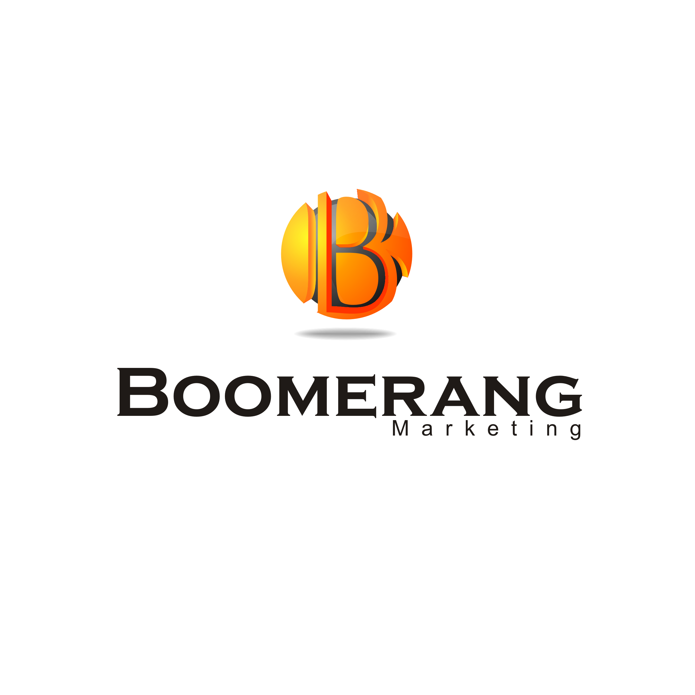 Logo Design by A Rizkiyanto Amir - Entry No. 128 in the Logo Design Contest Unique Logo Design Wanted for Boomerang Marketing.