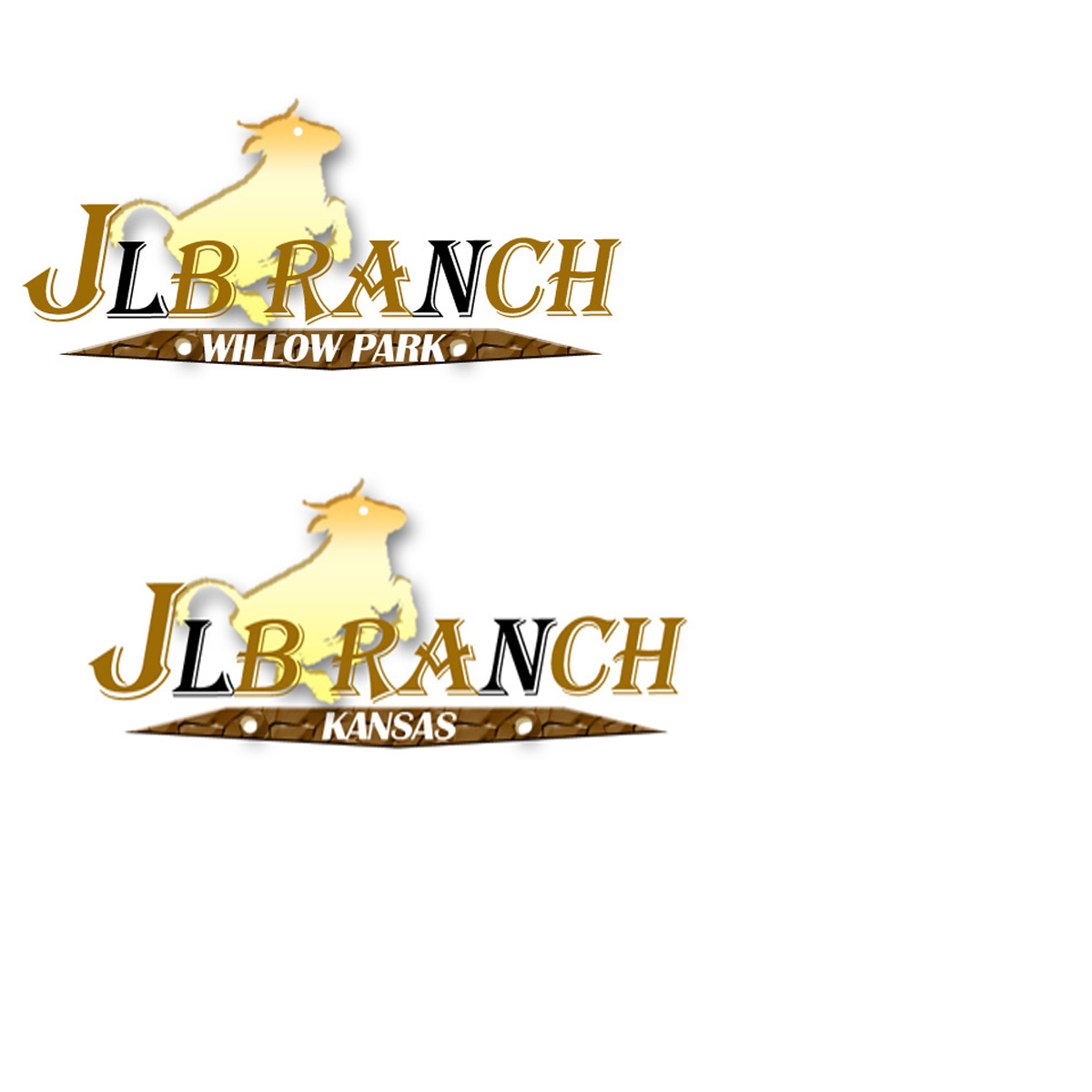 Logo Design by Private User - Entry No. 141 in the Logo Design Contest Logo Design Needed for Exciting New Company JLB Ranch Kansas.