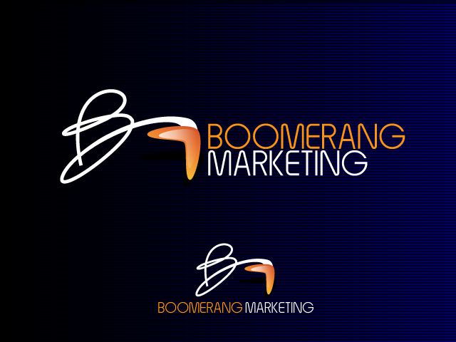 Logo Design by Adames Alwi - Entry No. 131 in the Logo Design Contest Unique Logo Design Wanted for Boomerang Marketing.