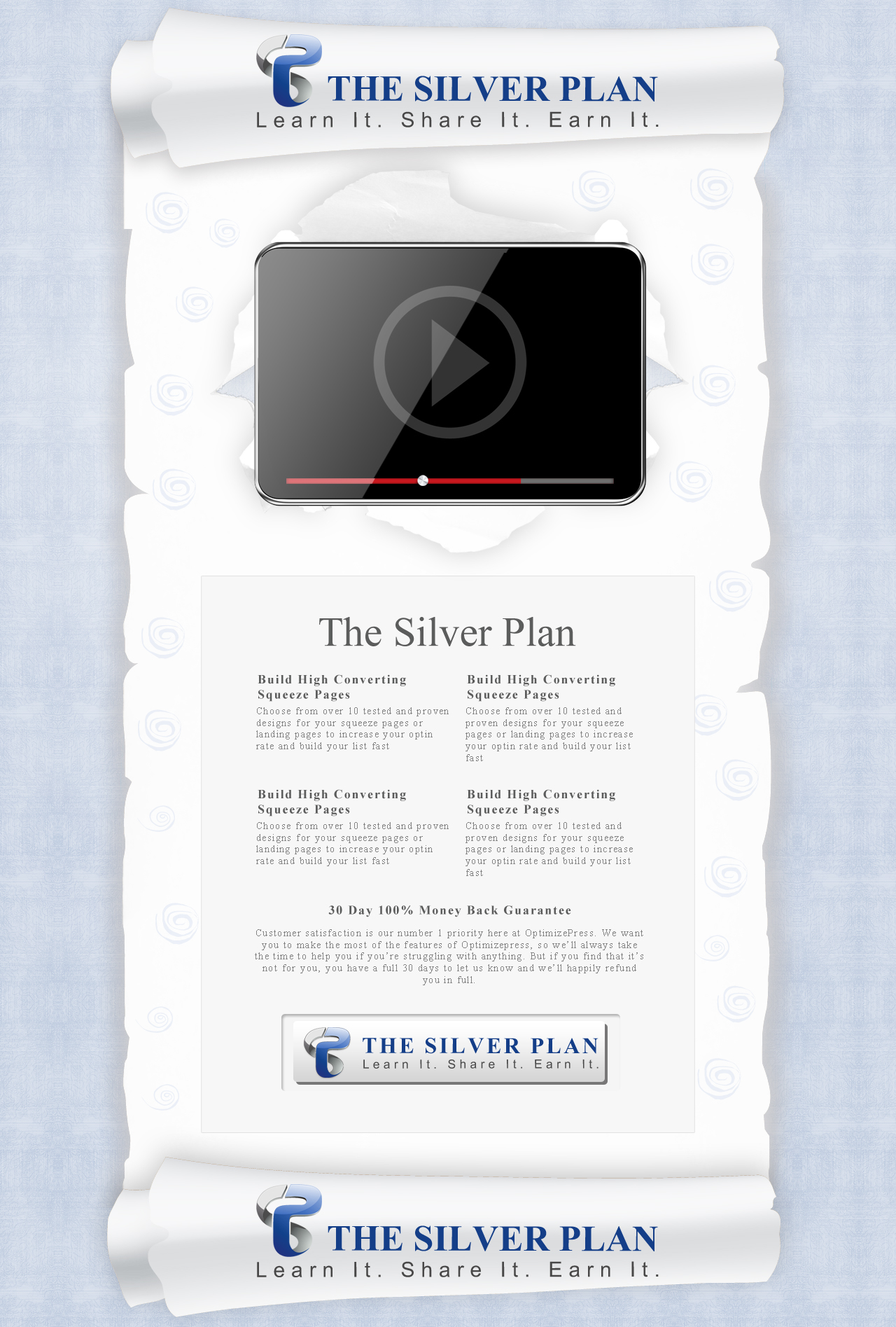 Web Page Design by Eric White Origami Associates - Entry No. 19 in the Web Page Design Contest Web Page Design for The Silver Plan.