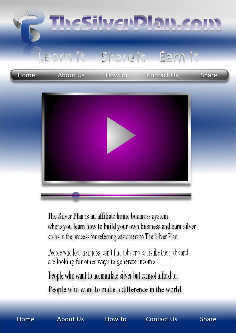 Web Page Design by Heri Susanto - Entry No. 25 in the Web Page Design Contest Web Page Design for The Silver Plan.