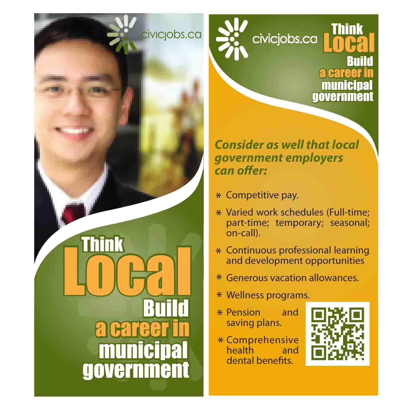 """Print Design by Agung Nugroho - Entry No. 22 in the Print Design Contest Print Design Wanted for CivicJobs.ca - 4"""" X 9"""" rack card, 2 sided, print ready.."""