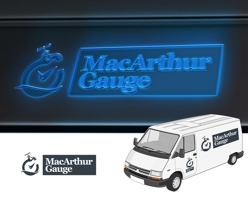 Logo Design by Jorge Sardon - Entry No. 70 in the Logo Design Contest Fun Logo Design for MacArthur Gauge.