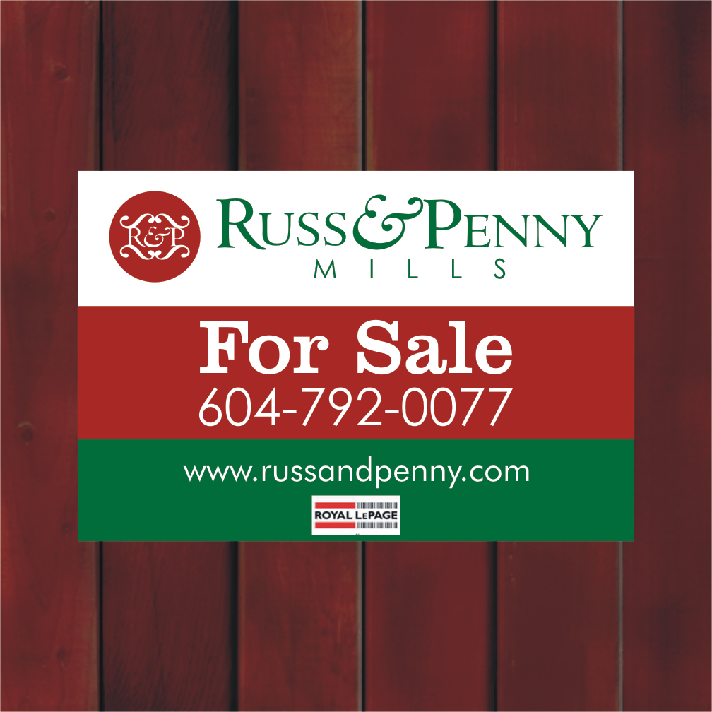 Custom Design by Private User - Entry No. 39 in the Custom Design Contest Fun Custom Design for Russ and Penny Mills (realtors).