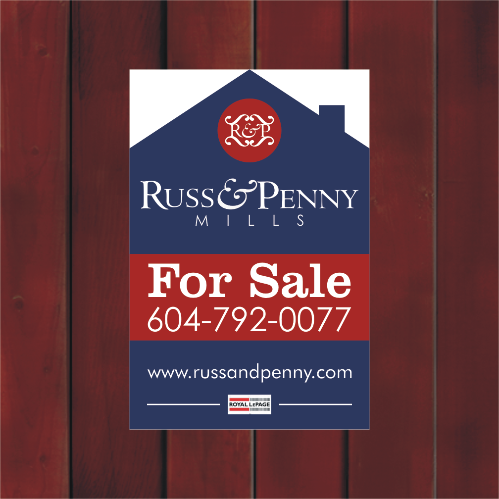 Custom Design by Private User - Entry No. 41 in the Custom Design Contest Fun Custom Design for Russ and Penny Mills (realtors).