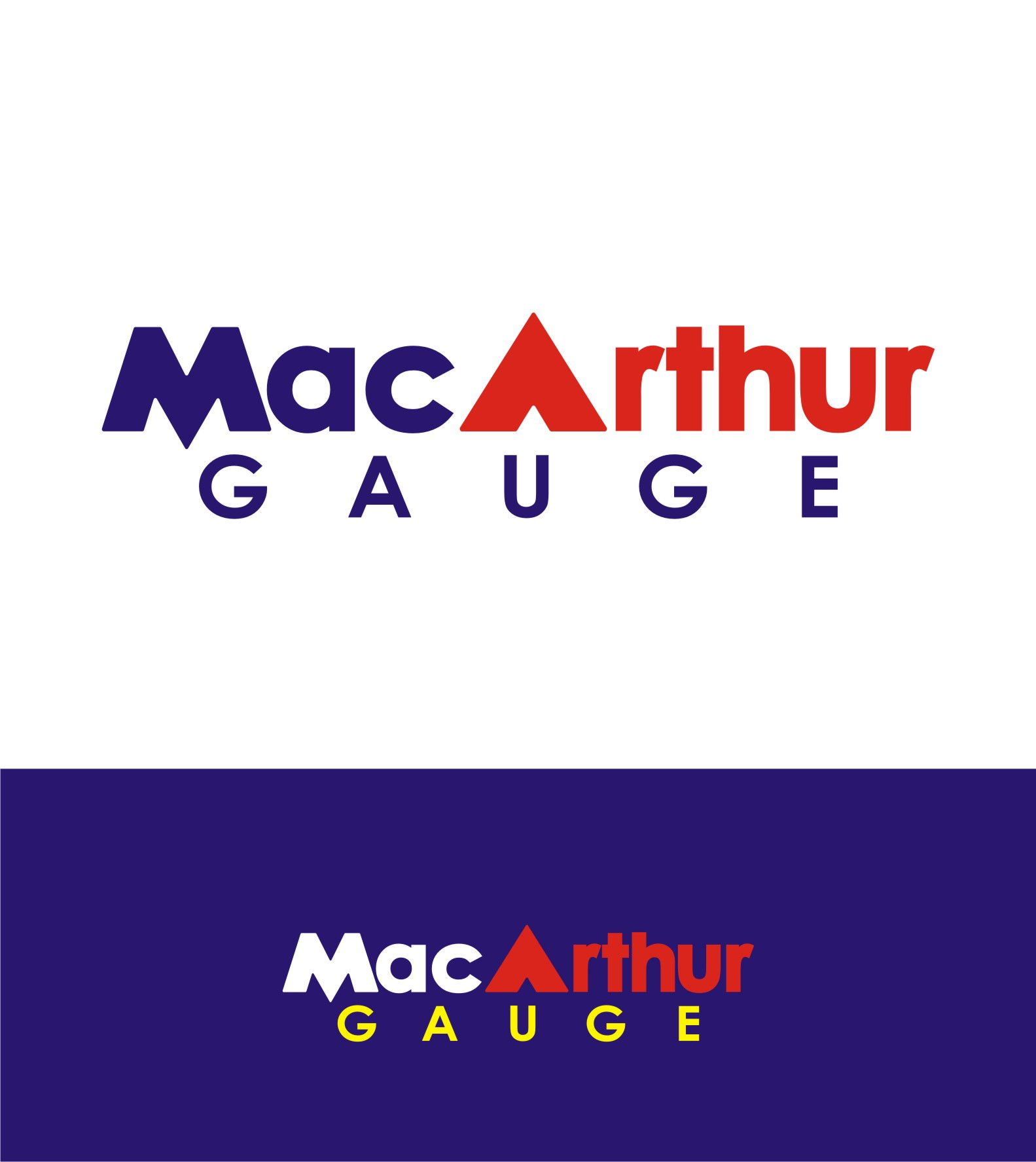 Logo Design by Private User - Entry No. 160 in the Logo Design Contest Fun Logo Design for MacArthur Gauge.