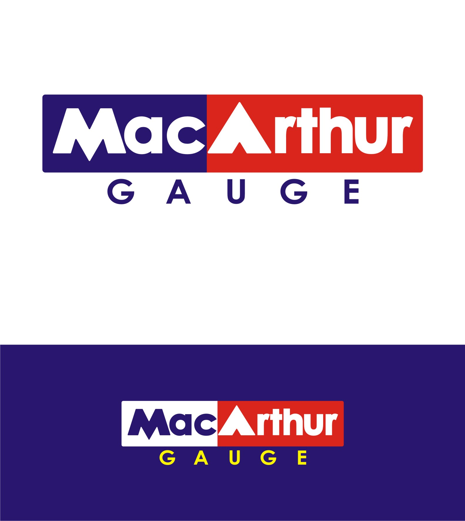 Logo Design by Private User - Entry No. 161 in the Logo Design Contest Fun Logo Design for MacArthur Gauge.