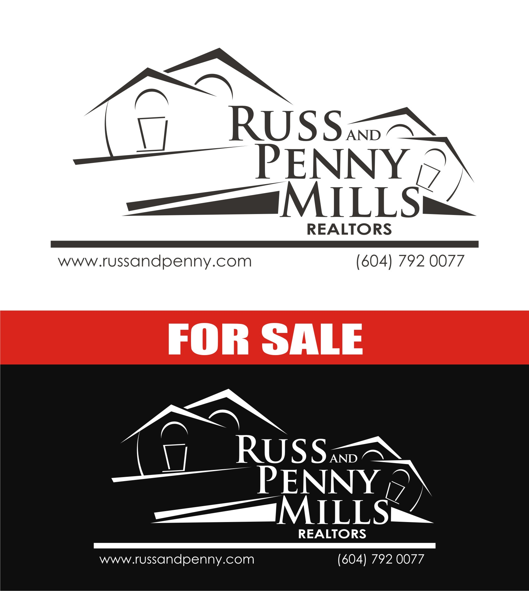 Custom Design by Private User - Entry No. 56 in the Custom Design Contest Fun Custom Design for Russ and Penny Mills (realtors).