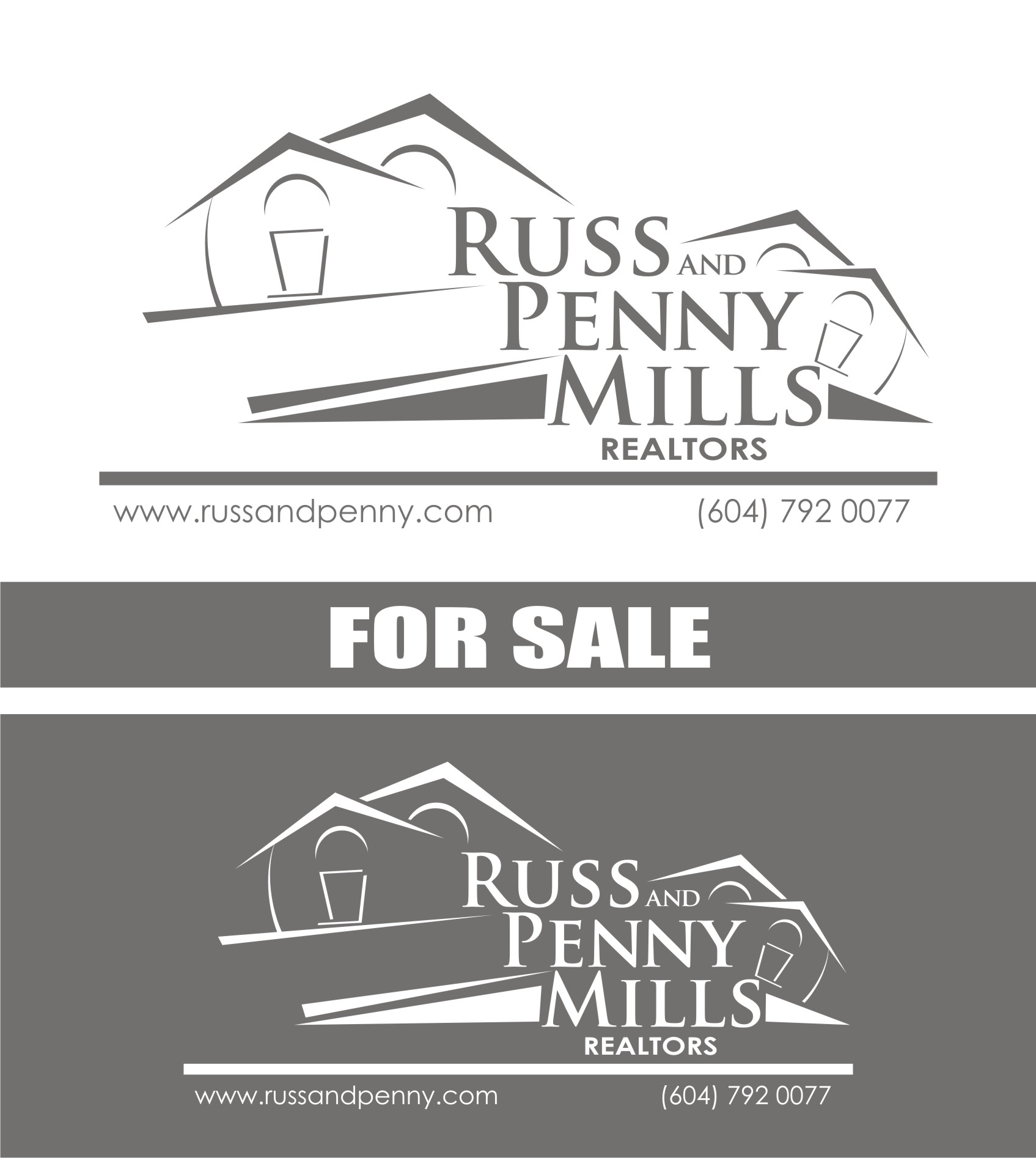 Custom Design by Private User - Entry No. 58 in the Custom Design Contest Fun Custom Design for Russ and Penny Mills (realtors).