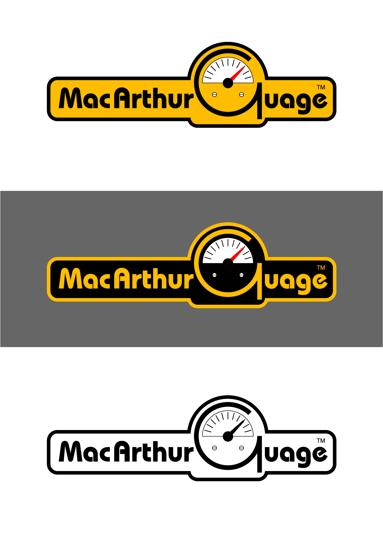 Logo Design by Wilfredo Mendoza - Entry No. 173 in the Logo Design Contest Fun Logo Design for MacArthur Gauge.