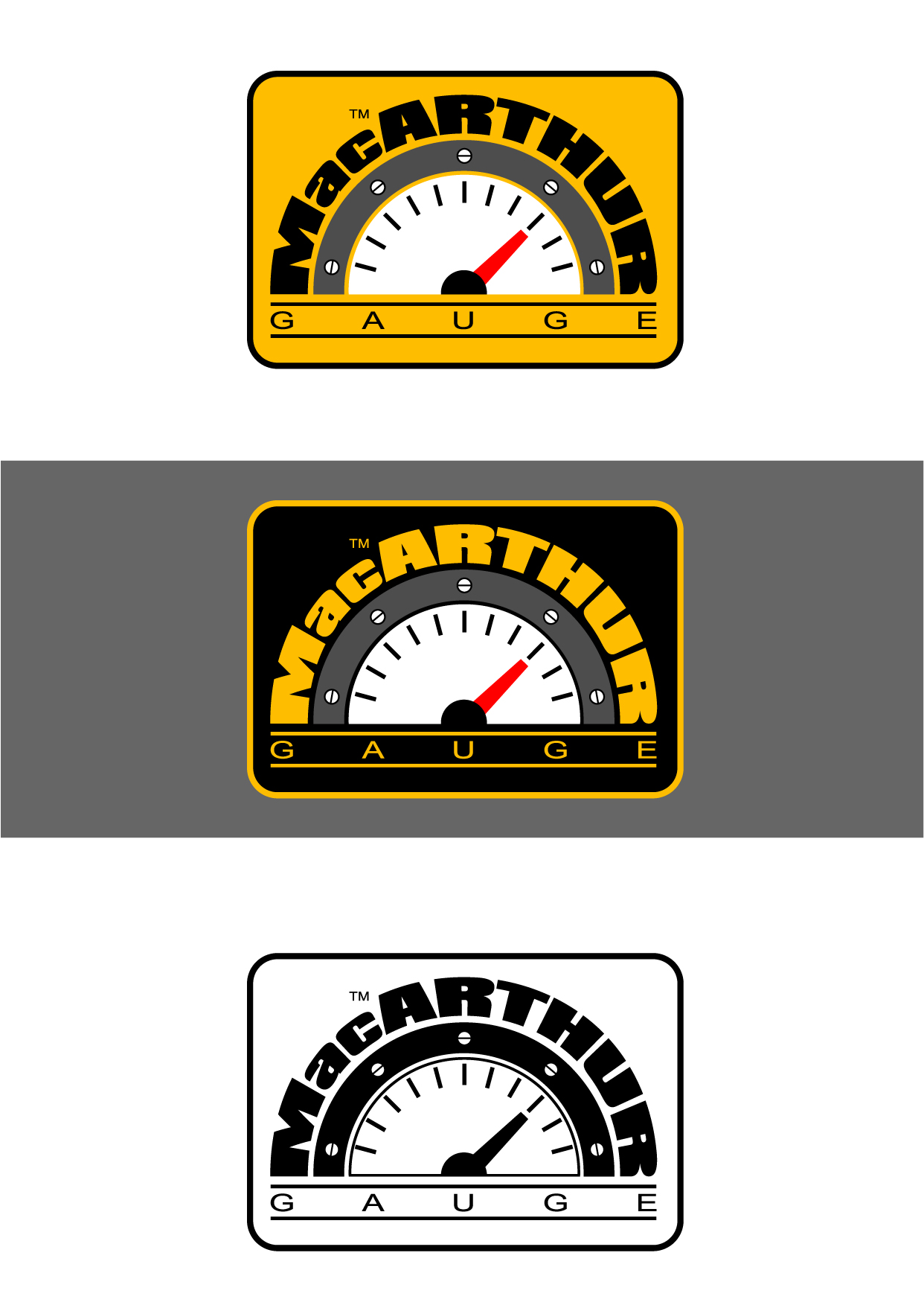Logo Design by Wilfredo Mendoza - Entry No. 174 in the Logo Design Contest Fun Logo Design for MacArthur Gauge.