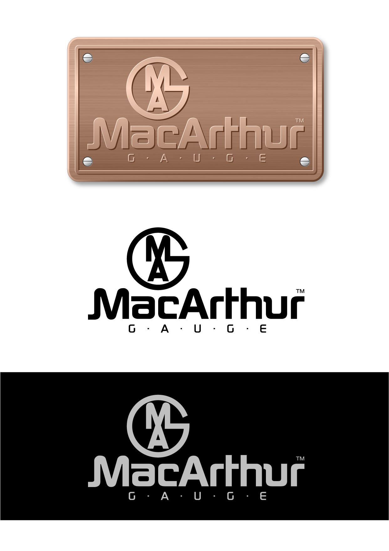 Logo Design by Wilfredo Mendoza - Entry No. 180 in the Logo Design Contest Fun Logo Design for MacArthur Gauge.