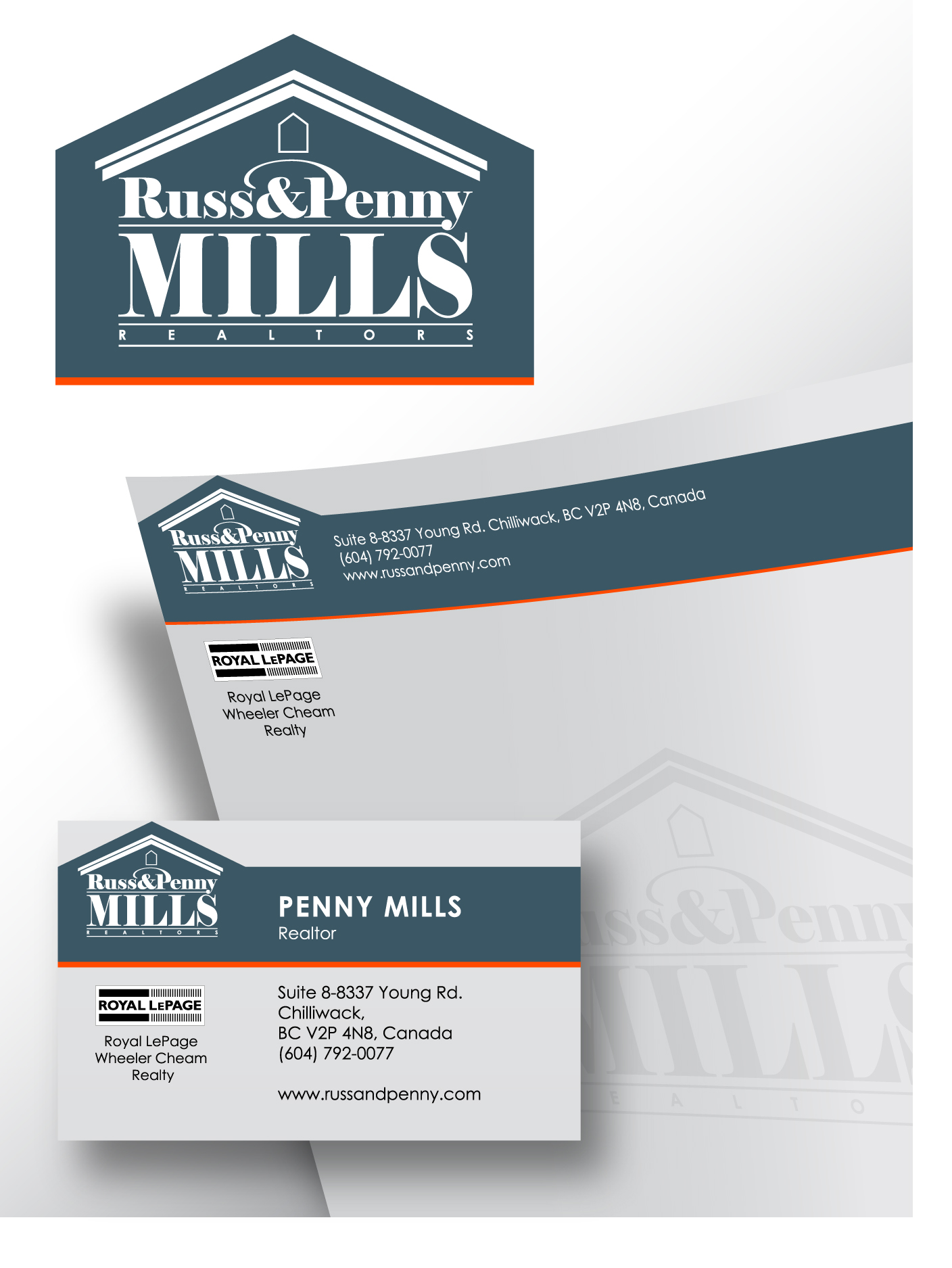 Custom Design by Wilfredo Mendoza - Entry No. 61 in the Custom Design Contest Fun Custom Design for Russ and Penny Mills (realtors).
