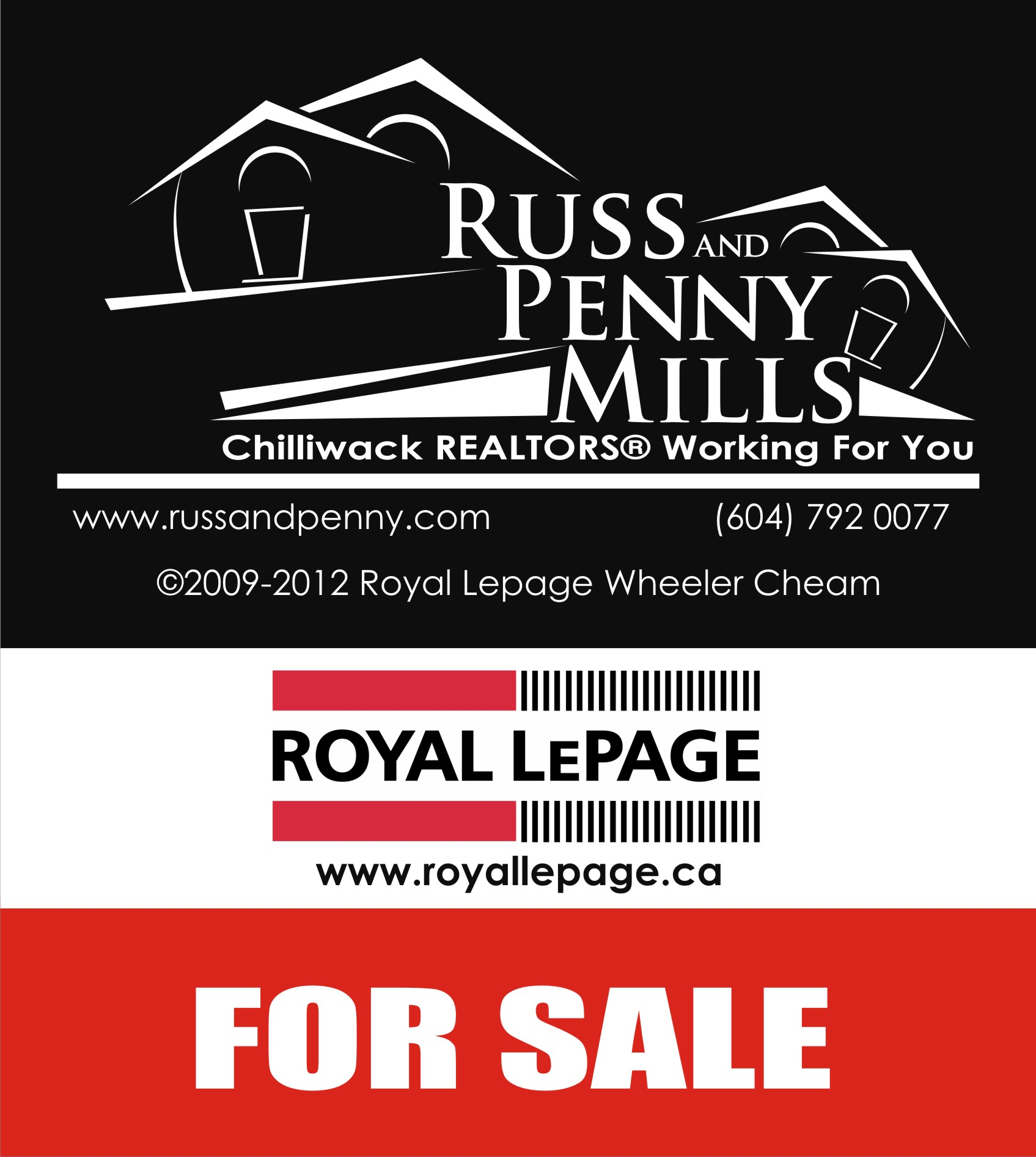 Custom Design by Private User - Entry No. 72 in the Custom Design Contest Fun Custom Design for Russ and Penny Mills (realtors).