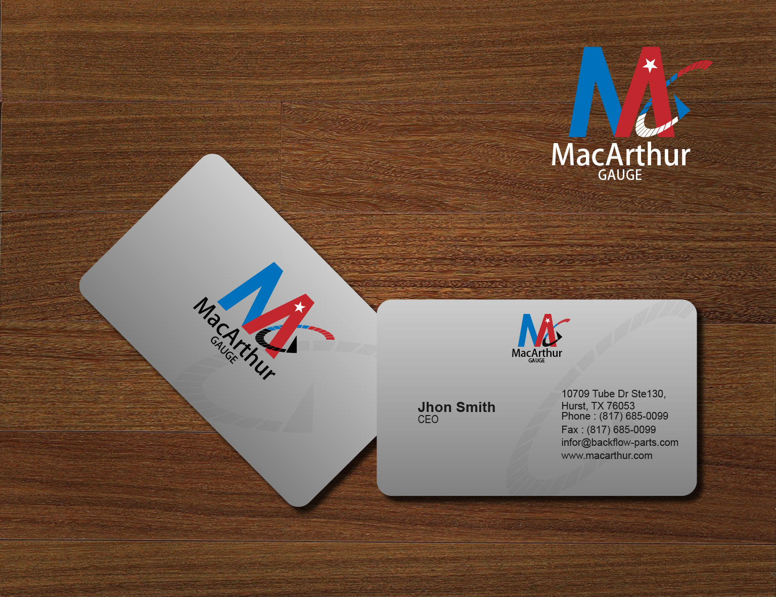 Logo Design by 3draw - Entry No. 212 in the Logo Design Contest Fun Logo Design for MacArthur Gauge.