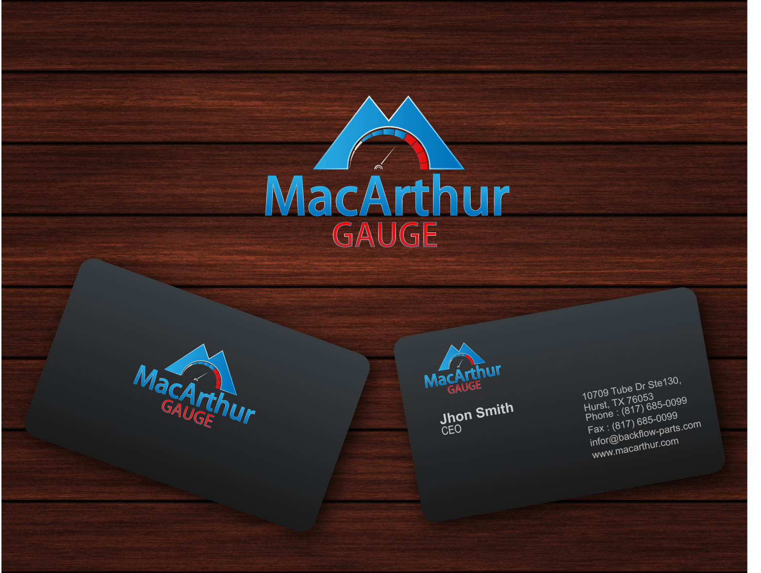 Logo Design by 3draw - Entry No. 237 in the Logo Design Contest Fun Logo Design for MacArthur Gauge.