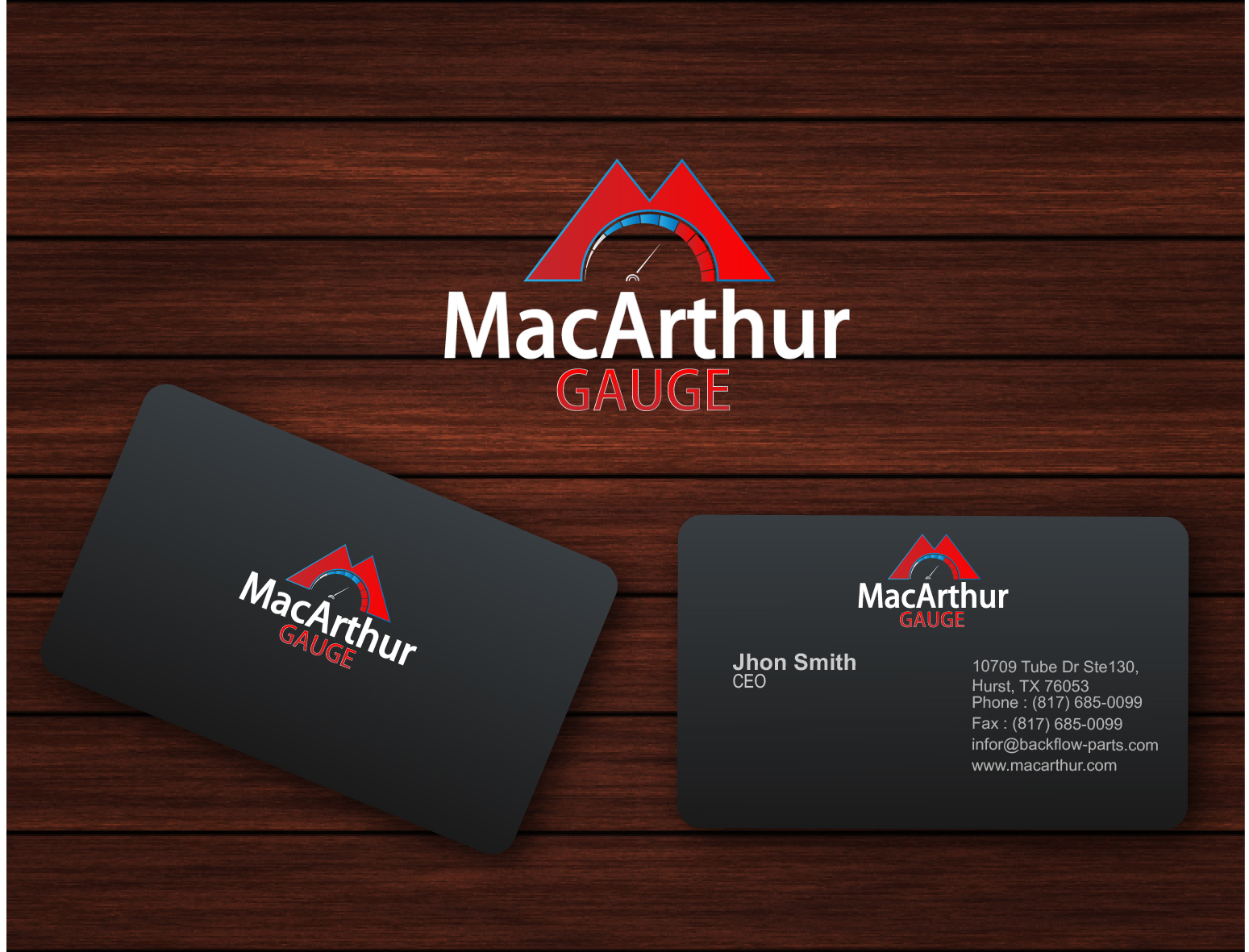 Logo Design by 3draw - Entry No. 238 in the Logo Design Contest Fun Logo Design for MacArthur Gauge.