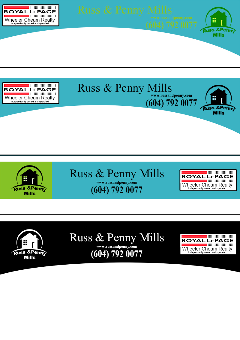 Custom Design by Mythos Designs - Entry No. 94 in the Custom Design Contest Fun Custom Design for Russ and Penny Mills (realtors).