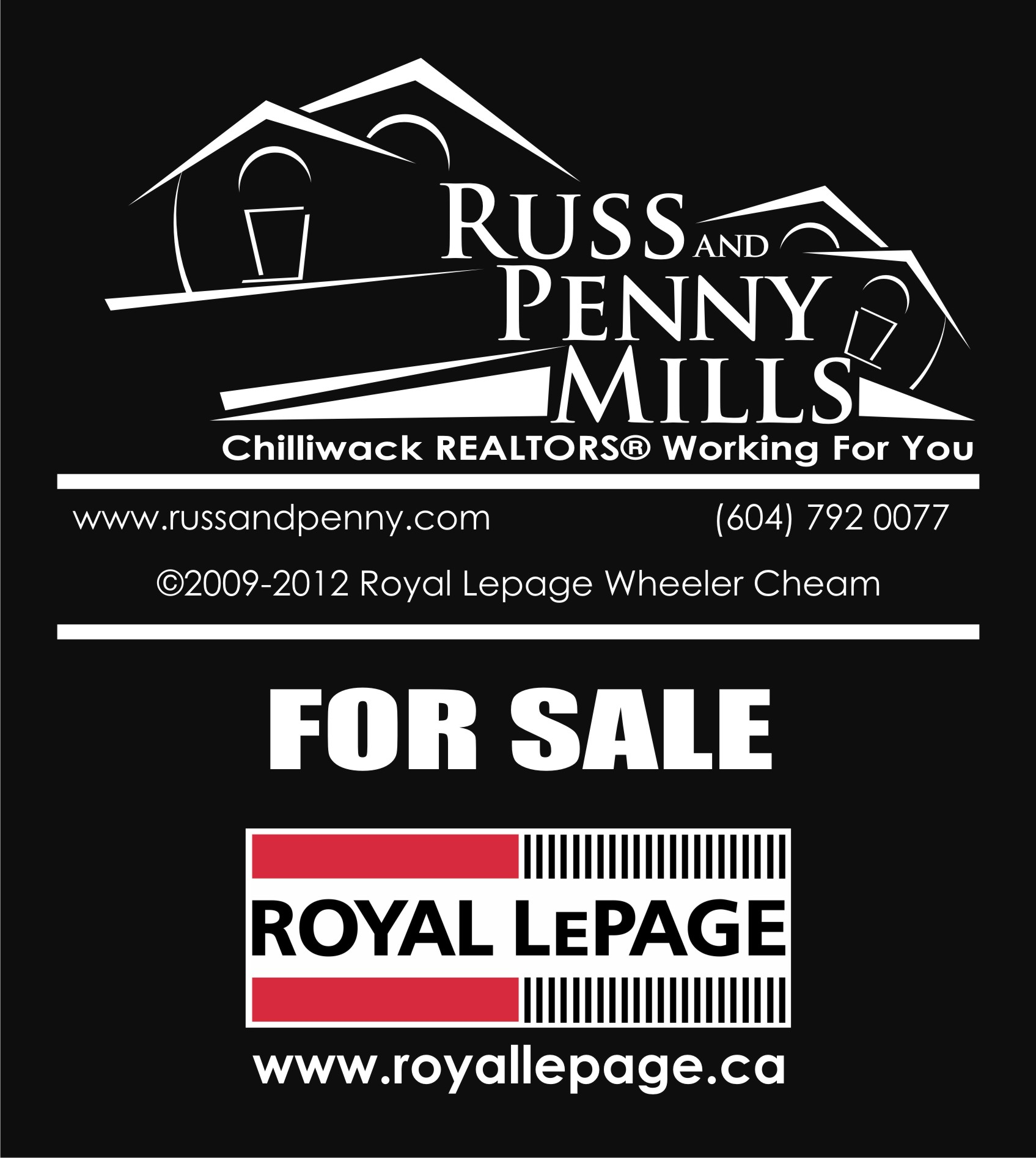 Custom Design by Private User - Entry No. 101 in the Custom Design Contest Fun Custom Design for Russ and Penny Mills (realtors).