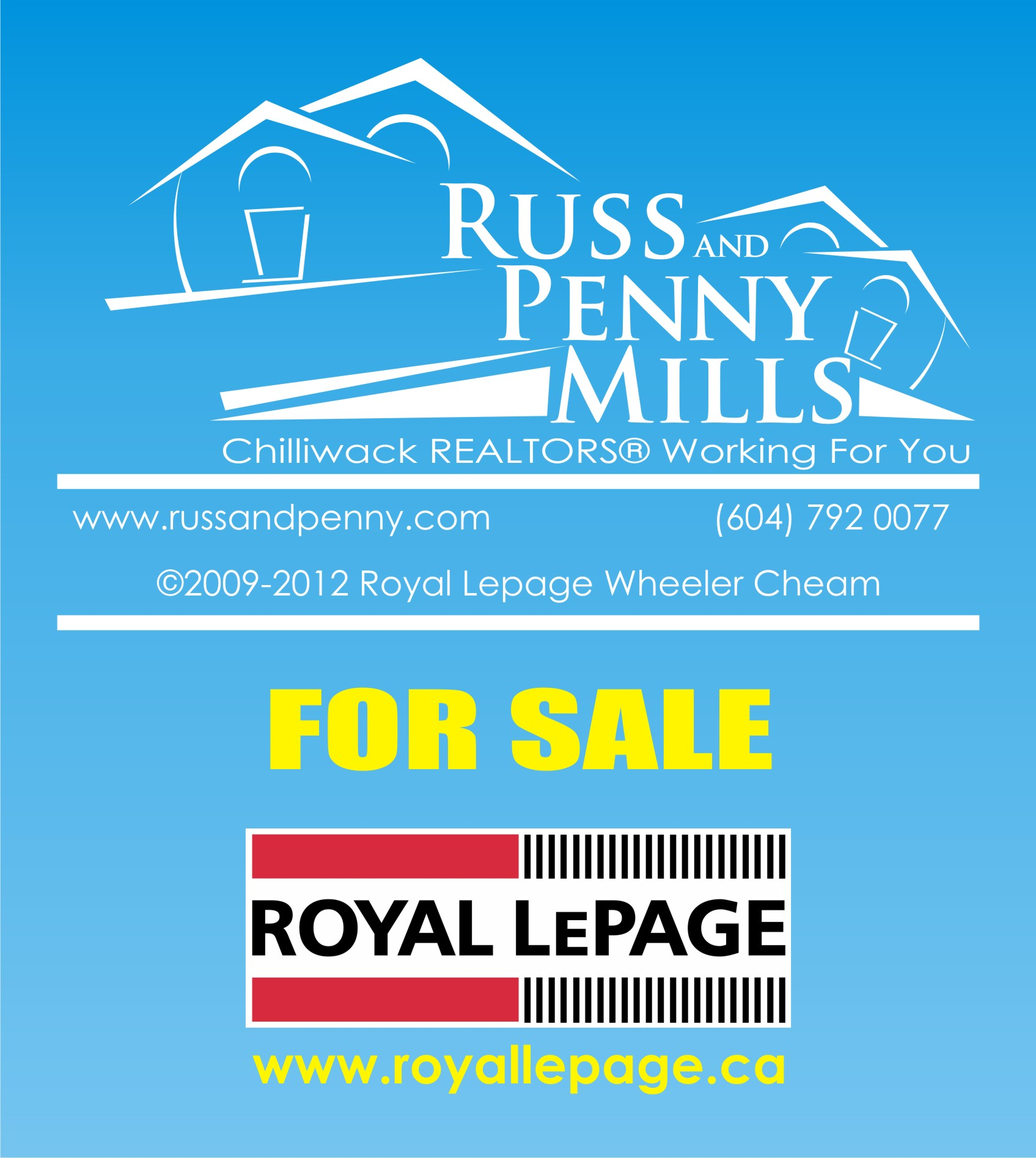 Custom Design by Private User - Entry No. 104 in the Custom Design Contest Fun Custom Design for Russ and Penny Mills (realtors).