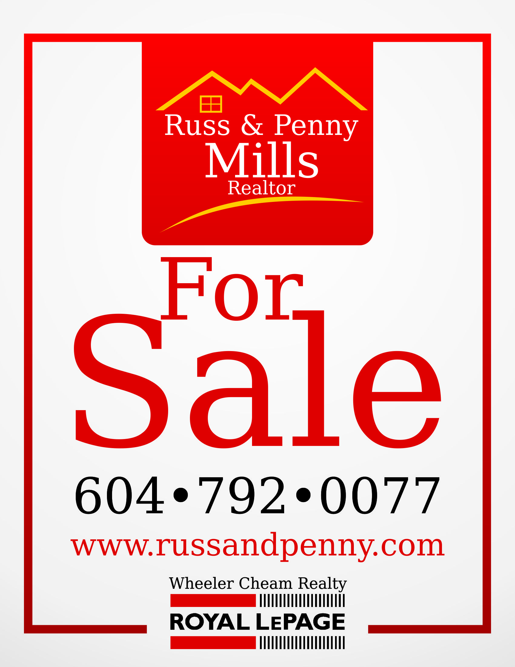 Custom Design by Private User - Entry No. 110 in the Custom Design Contest Fun Custom Design for Russ and Penny Mills (realtors).