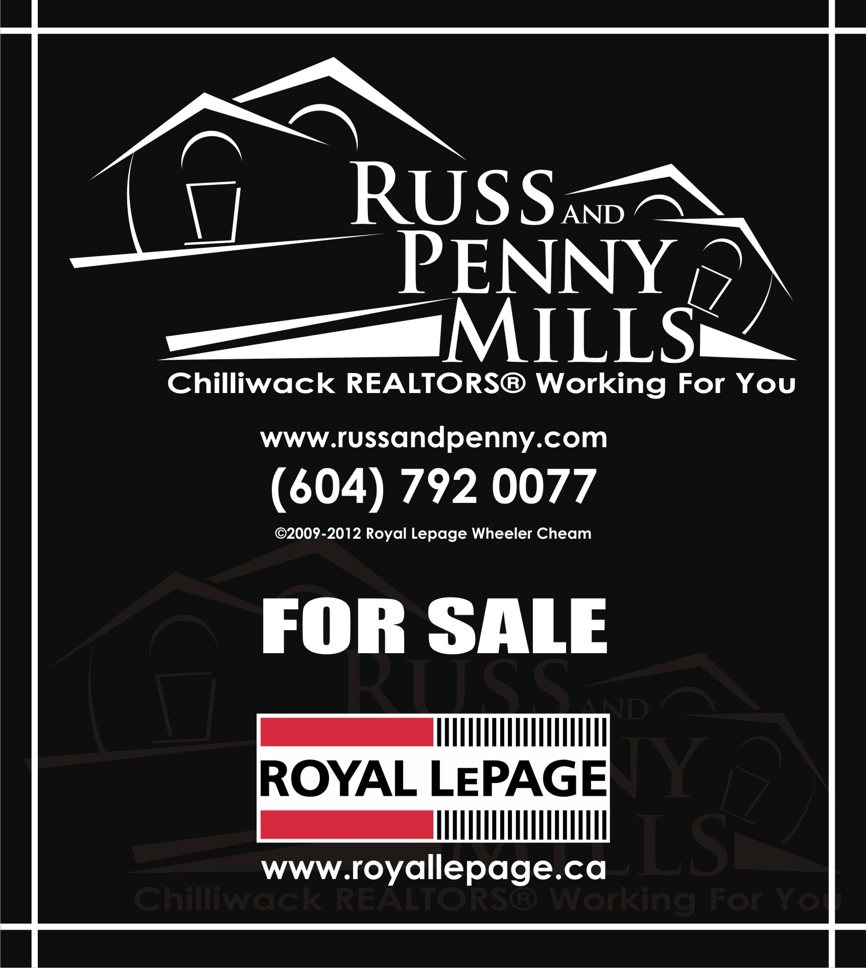 Custom Design by Private User - Entry No. 111 in the Custom Design Contest Fun Custom Design for Russ and Penny Mills (realtors).