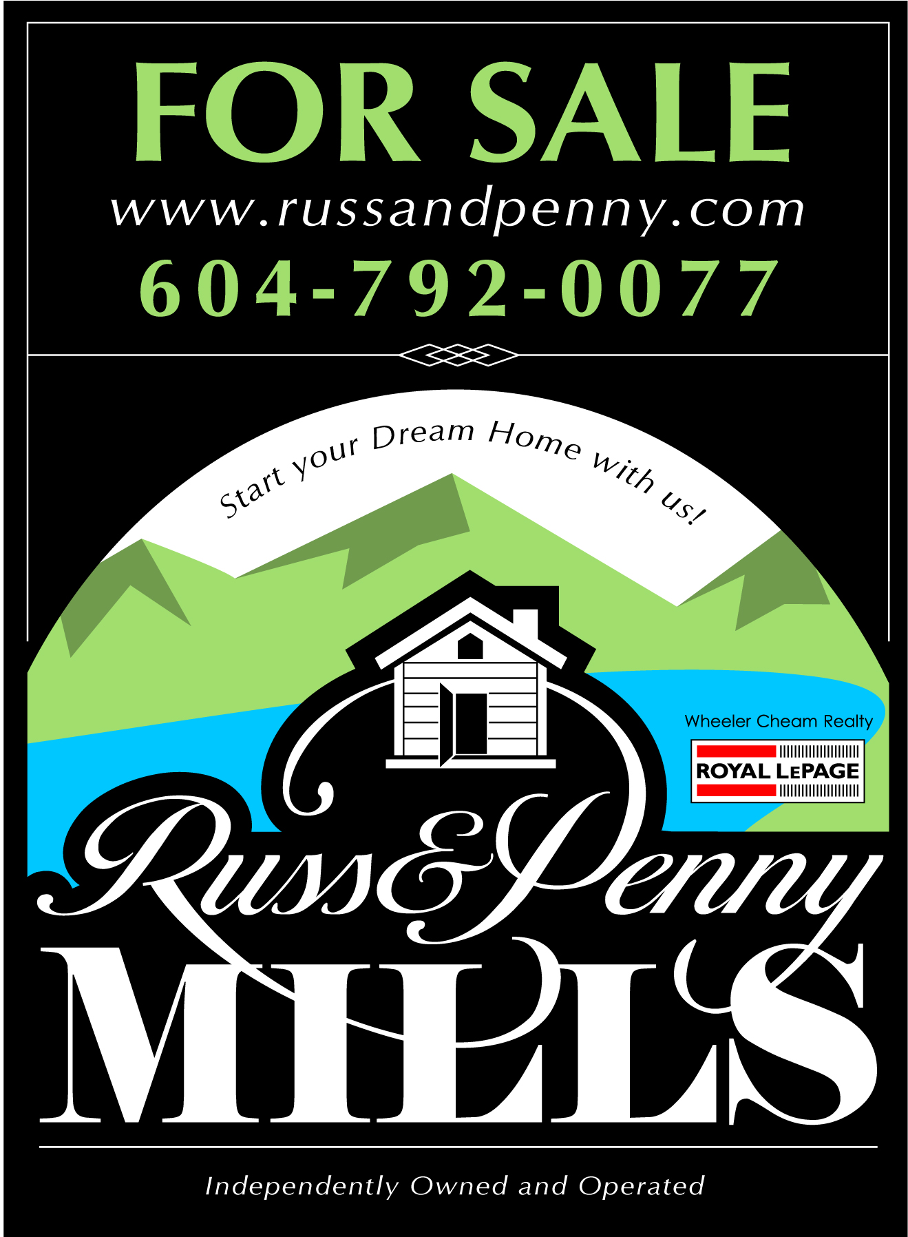 Custom Design by Wilfredo Mendoza - Entry No. 155 in the Custom Design Contest Fun Custom Design for Russ and Penny Mills (realtors).