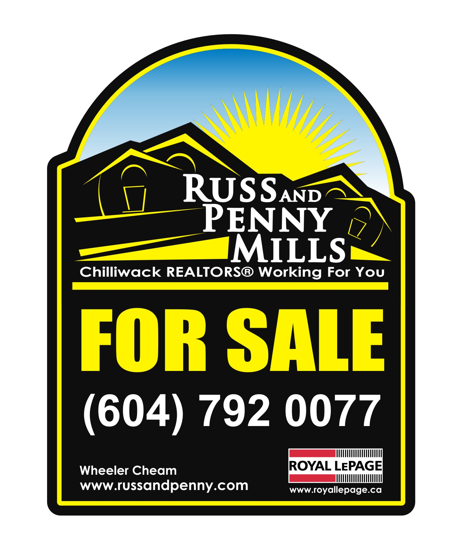 Custom Design by Private User - Entry No. 156 in the Custom Design Contest Fun Custom Design for Russ and Penny Mills (realtors).