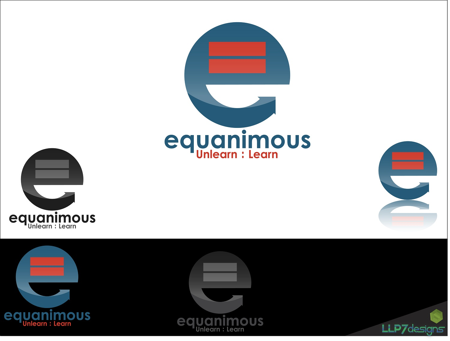 Logo Design by LLP7 - Entry No. 19 in the Logo Design Contest Logo Design : EQUANIMOUS : Productivity | Learning | Design.