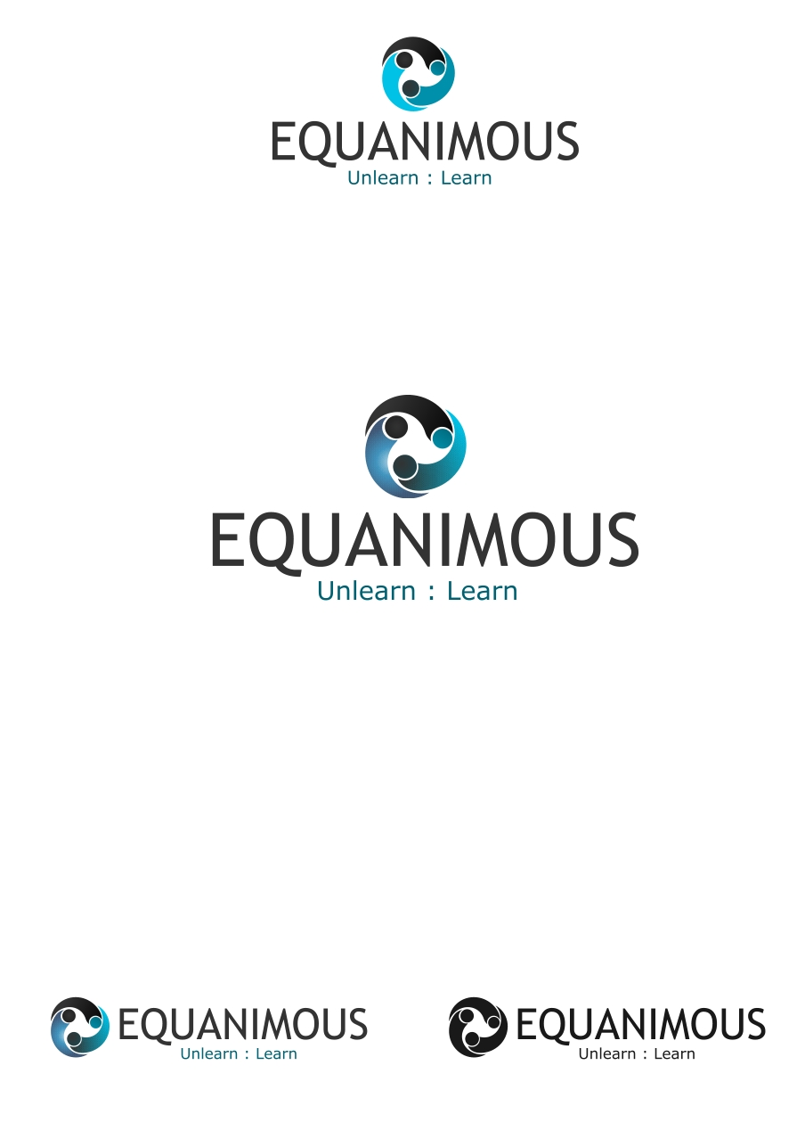Logo Design by Private User - Entry No. 69 in the Logo Design Contest Logo Design : EQUANIMOUS : Productivity | Learning | Design.